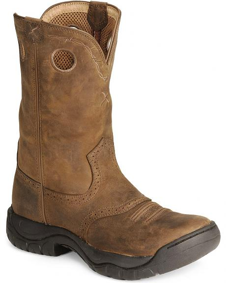 Twisted X Distressed All Around Barn Boot - Round Toe