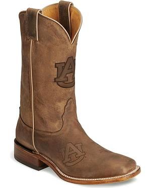 Nocona Auburn Tigers College Boots - Square Toe
