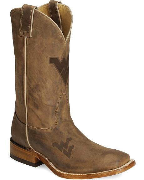 Nocona West Virginia Mountaineers Cowboy Boots - Sq Toe