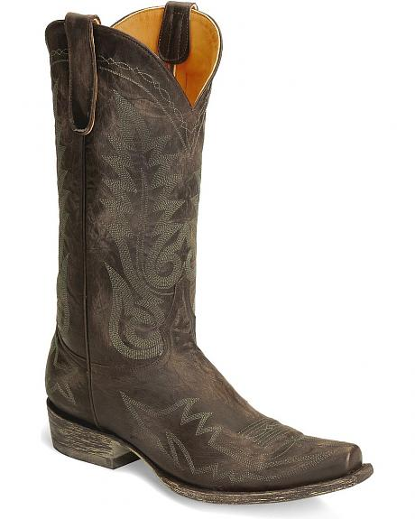 Old Gringo Nevada Distressed Leather Cowboy Boots - Snip Toe