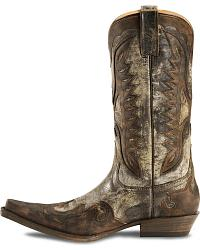 Stetson Distressed Eagle Cowboy Boots-Pointed Toe at Sheplers