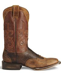 Stetson Wingtip Horseman Cowboy Boots - Square Toe at Sheplers