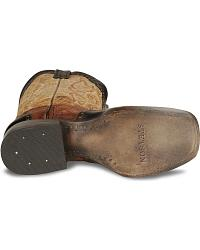 Stetson Antiqued Wingtip Horseman Cowboy Boots at Sheplers