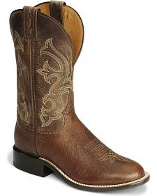 "Tony Lama 11"" Cognac Conquistador Shoulder Boots - Medium Toe"