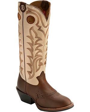 Tony Lama 3R Fancy Buckaroo Cowboy Boots - Round Toe