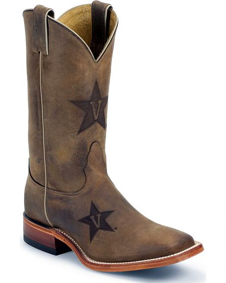 Nocona Vanderbilt Commodores College Boot - Square