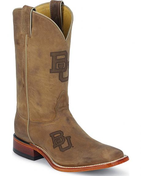 Nocona Baylor Bears College Boots - Square Toe