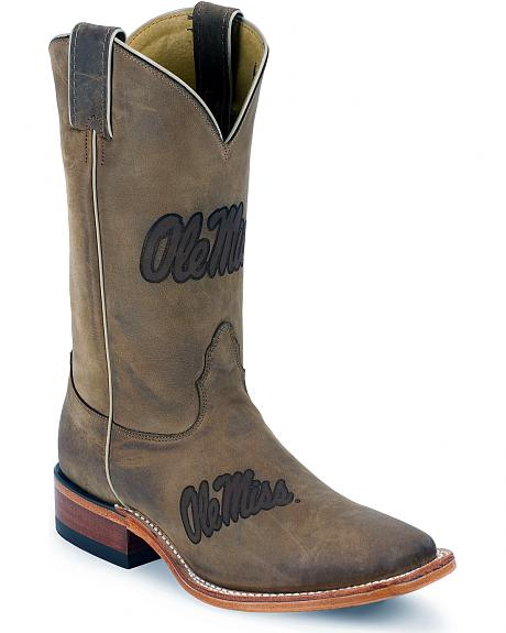 Nocona University of Mississippi Rebels College Boots - Square Toe