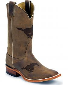 Nocona Southern Methodist University College Boots - Square Toe