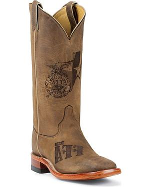 Justin Texas Future Farmers of America Boots - Square Toe