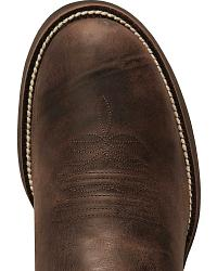 Justin Stampede Puma Cowboy Boots - Round Toe at Sheplers
