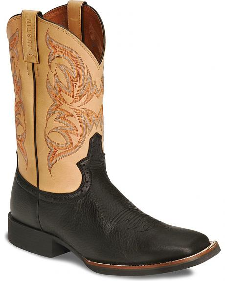 Justin Stampede Cowboy Boots - Square Toe