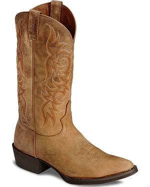 Justin Stampede Puma Cowboy Boots - Medium Toe
