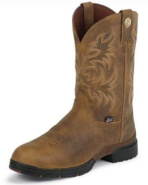 Justin George Strait 3.1 Waterproof Cowboy Boots - Round Toe