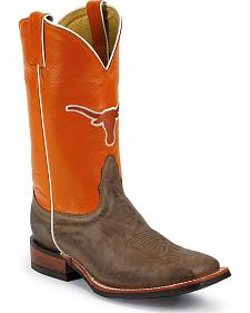Nocona Men's University of Texas College Cowboy Boots - Square Toe