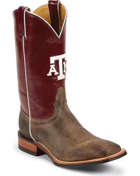 Nocona Men's Texas A&M College Cowboy Boots - Square Toe