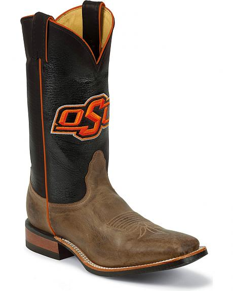 Nocona Men's Oklahoma State University College Cowboy Boots - Square Toe