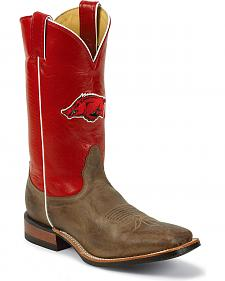 Nocona Men's University of Arkansas College Cowboy Boots - Square Toe