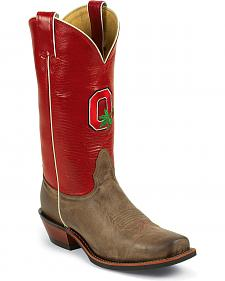 Nocona Men's Ohio State University College Cowboy Boots - Square Toe