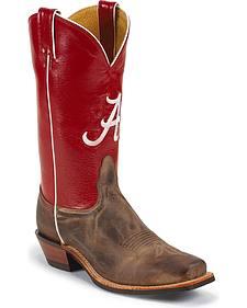 Nocona Men's University of Alabama College Cowboy Boots - Square Toe