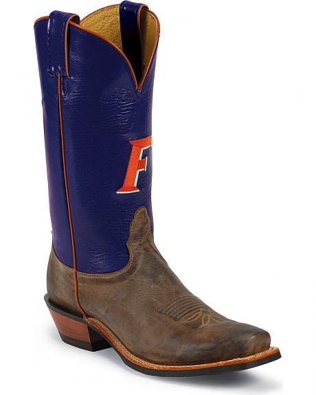 Nocona Men's University of Florida College Cowboy Boots - Square Toe