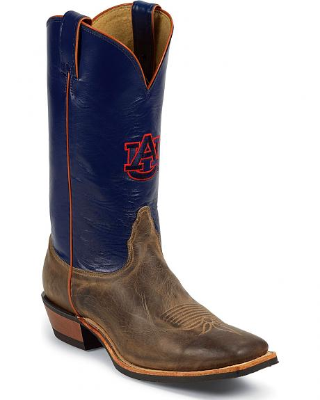 Nocona Men's University of Auburn College Cowboy Boots - Square Toe