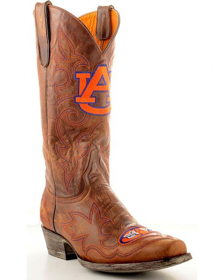 Auburn University Gameday Cowboy Boots - Snoot Toe