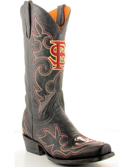Florida State University Gameday Cowboy Boots - Snoot Toe