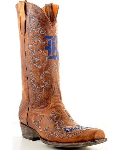 Rice University Gameday Cowboy Boots - Snoot Toe