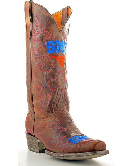 Southern Methodist University Gameday Cowboy Boots - Snoot Toe