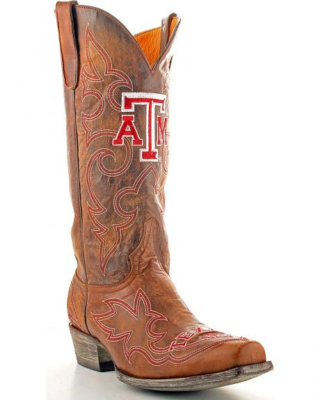 Texas A&M Reveille Gameday Cowboy Boots - Snoot Toe