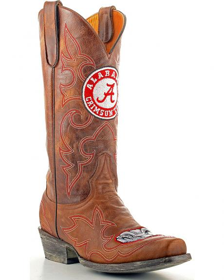 University of Alabama Gameday Cowboy Boots - Snoot Toe