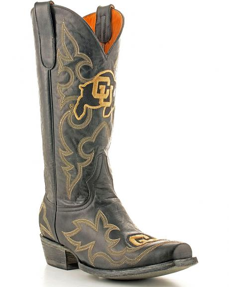 University of Colorado Gameday Cowboy Boots - Snoot Toe