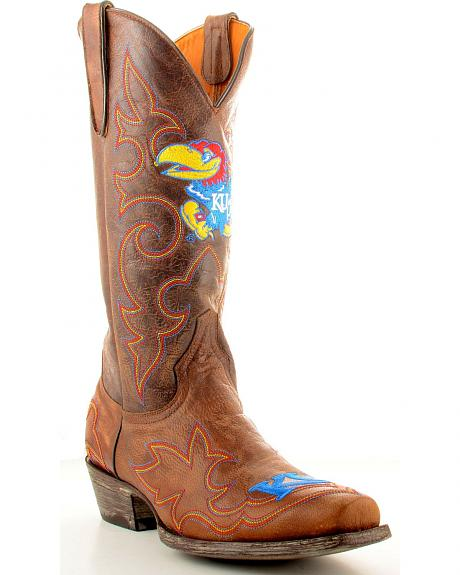 University of Kansas Gameday Cowboy Boots - Snoot Toe