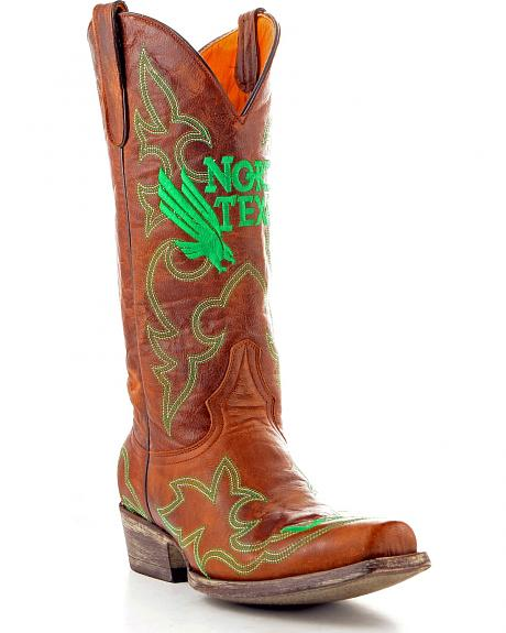 University of North Texas Gameday Cowboy Boots - Snoot Toe