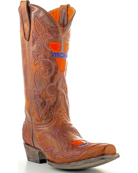 University of Virginia Gameday Cowboy Boots - Snoot Toe