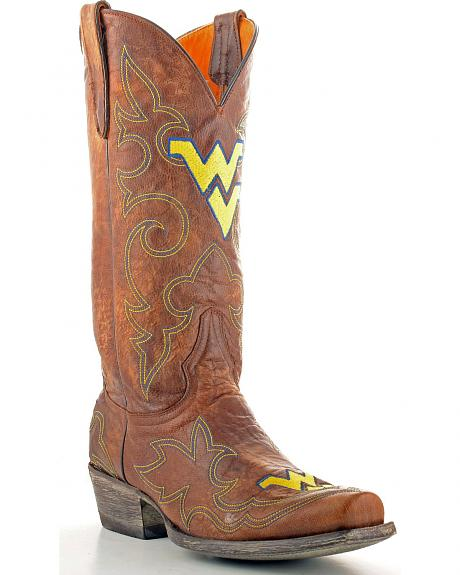 West Virginia University Gameday Cowboy Boots - Snoot Toe