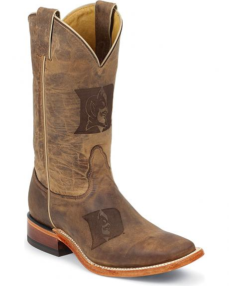 Nocona Duke University Blue Devils Cowboy Boots - Square Toe