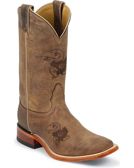 Nocona University of Kansas Jayhawks Cowboy Boots - Square Toe