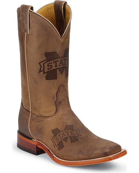 Nocona Mississippi State University Bulldogs Cowboy Boots - Square Toe