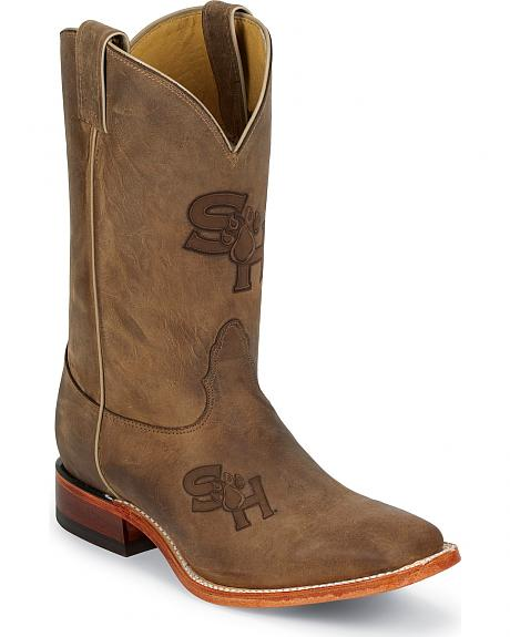 Nocona Sam Houston State University Bearkats Cowboy Boots - Square