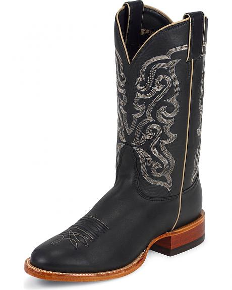 Nocona Legacy Calfskin Leather Cowboy Boots - Extra Wide Round Toe