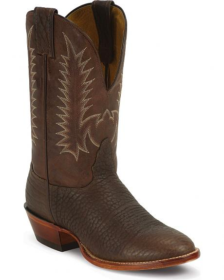 Nocona Bull Shoulder Western Cowboy Boots -  Extra Wide Round Toe