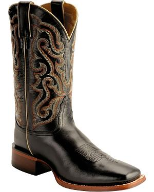 Nocona Calfskin Leather Cowboy Boots - Square Toe