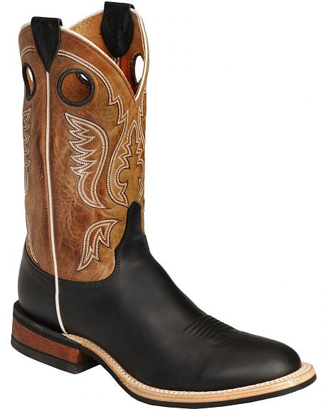 Justin Bent Rail Cowboy Boots - Round Toe