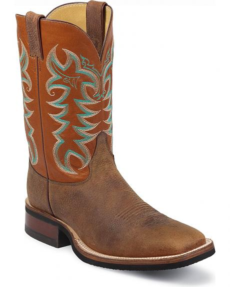 Justin Q-Crepe Cowboy Boots - Wide Square Toe
