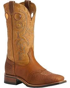 Boulet Saddle Rider Sole Boots - Square Toe