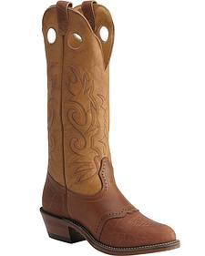 Boulet Saddle Buckaroo Cowboy Boots - Round Toe