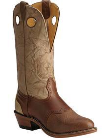 Boulet Buckaroo Saddle Cowboy Boots - Round Toe