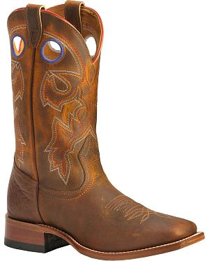 Boulet Stockman Cowboy Boots - Wide Square Toe